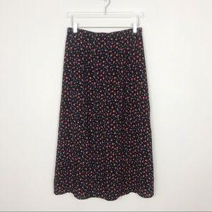 Vintage | Floral Festival Boho Midi Skirt